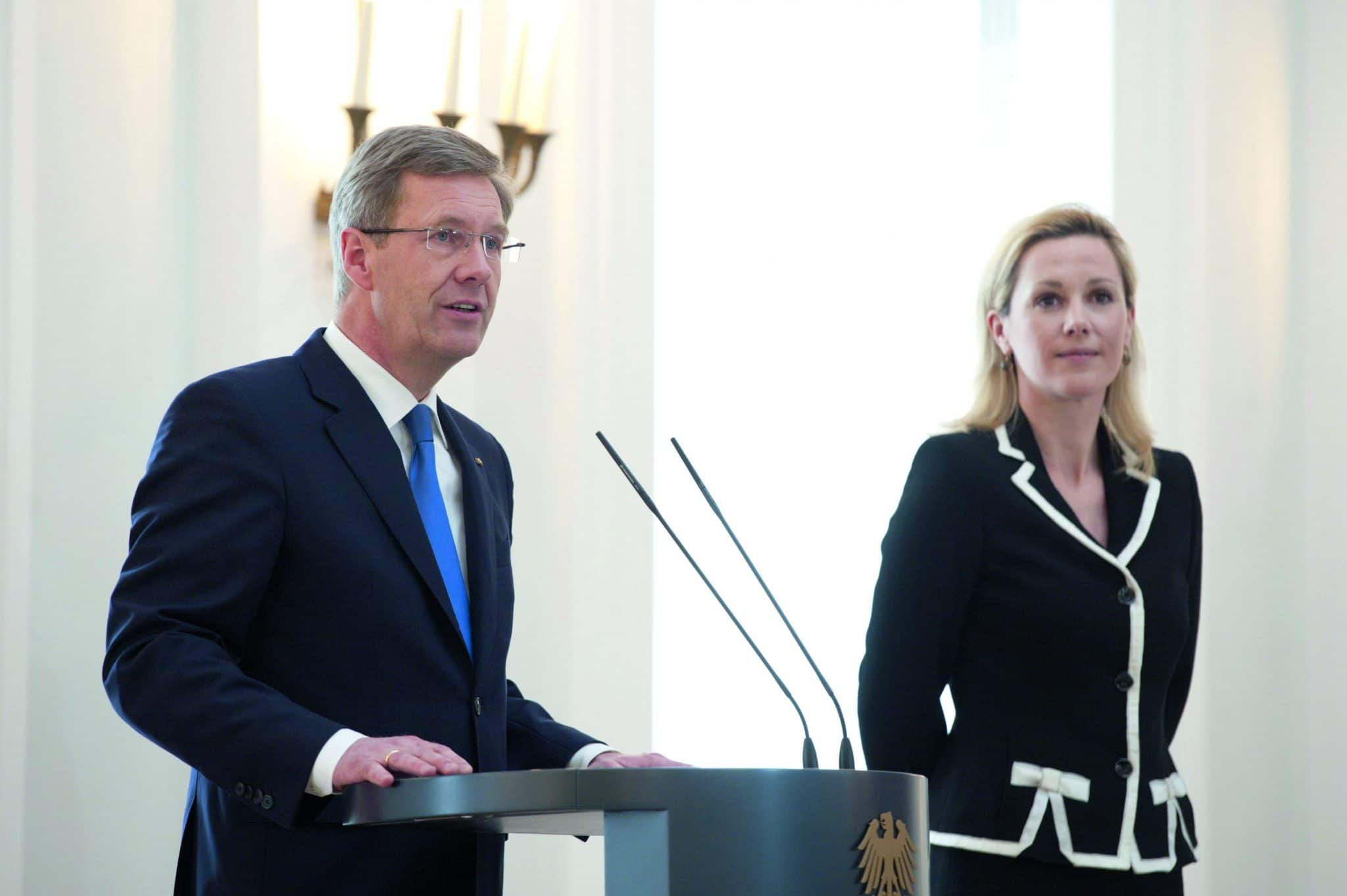 Christian Wulff am Tag seines Rücktritts, Foto: Marco Urban