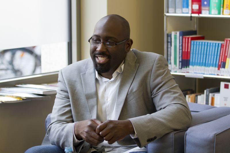 """Marlon Marshall sieht seine Berufung im Wahlkämpfen: """"Das ist Nervenkitzel pur""""  Foto: Christine Ambrus"""
