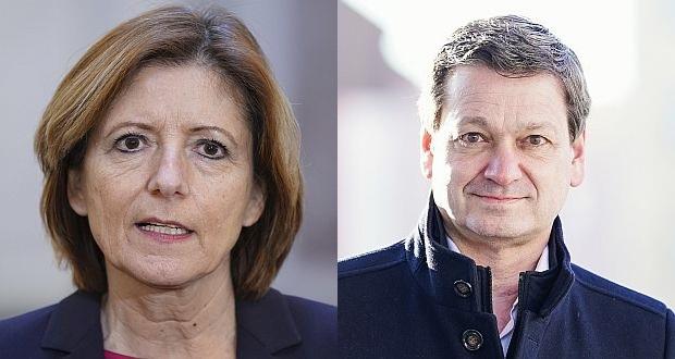 Ministerpräsidentin Malu Dreyer ist parteiübergreifend beliebt. CDU-Spitzenkandidat Christian Baldauf hat er schwer, sich in Corona-Zeiten bei den Wählern bekannt zu machen. (c) (1) picture alliance/Flashpic/Jens Krick (2) picture alliance/dpa/Uwe Anspach